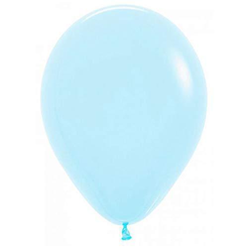 Sempertex Globos (R-5) DE 13 cm Aprox Color Azul Celeste Solido (100 ud)