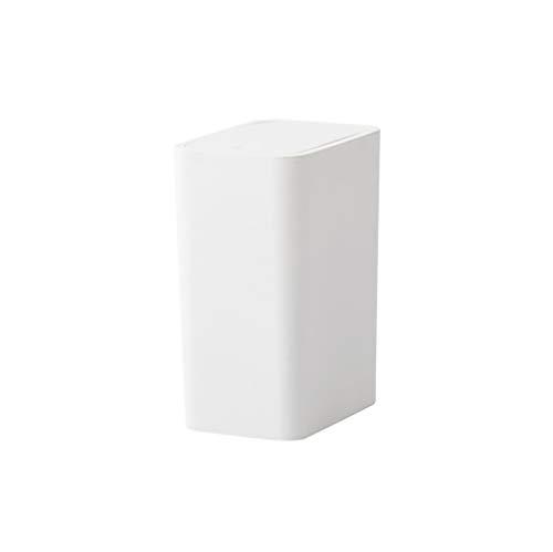 Prullenbak 8l Drukdeksel Type Keuken Afvalbakken Thuis Woonkamer Slaapkamer Pers Type Badkamer Creatief Groot Overdekt Papier Mand Wit