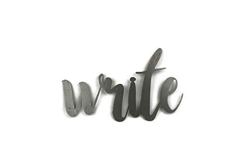 Write Standard Size Raw Steel Unpainted Word Art