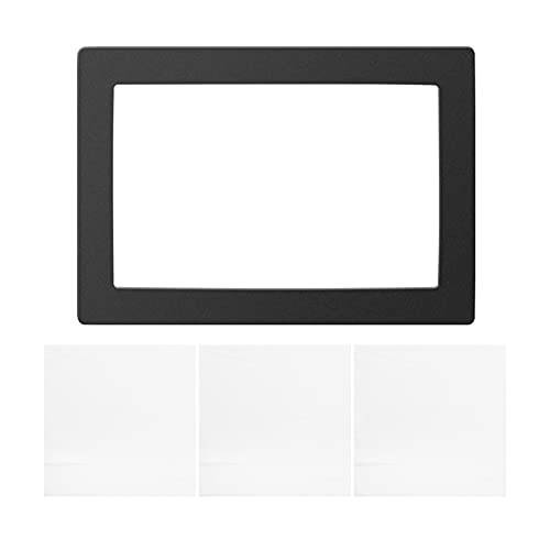 1pcs Black LCD gasket 9.5 x 6.7 inches, dust-free protection, compatible with ELEGOO Saturn 8.9 inches resin 3D printer screen