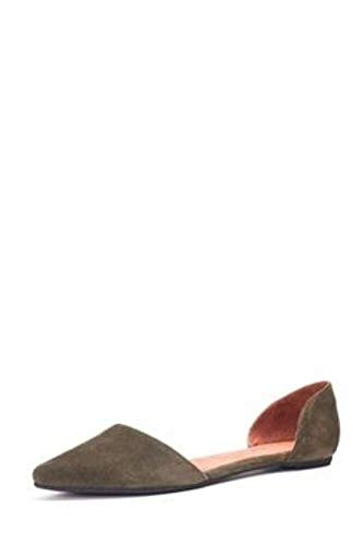 Jeffrey Campbell Women's Inlove Suede Slingback Flats (5, Khaki)
