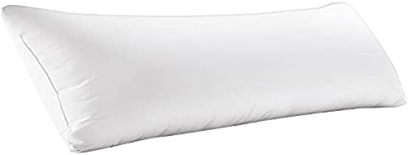 WhatsBedding Full Body Pillow Insert(Without Cover)- Large Body Pillow for Adults - Breathable Long Side Sleeper Pillow for Sleeping (20×54 inch)- White
