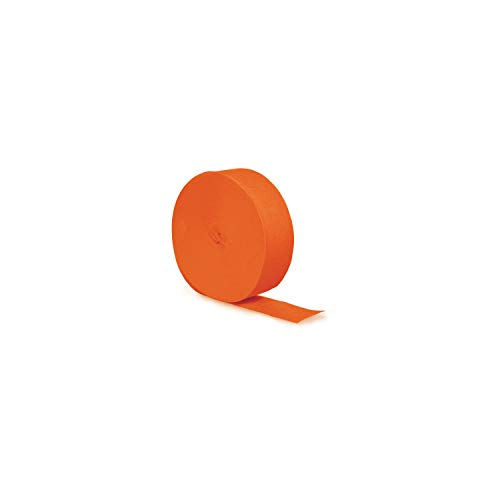 Creative Converting Touch of Color Crepe Paper Streamer Roll, 81-Feet, Sunkissed Orange , One size -