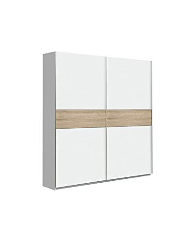 CAMBIA TUS MUEBLES - Armario ropero Winter. Armario para Dormitorio con Puertas correderas. (170 x 210 cm, White)
