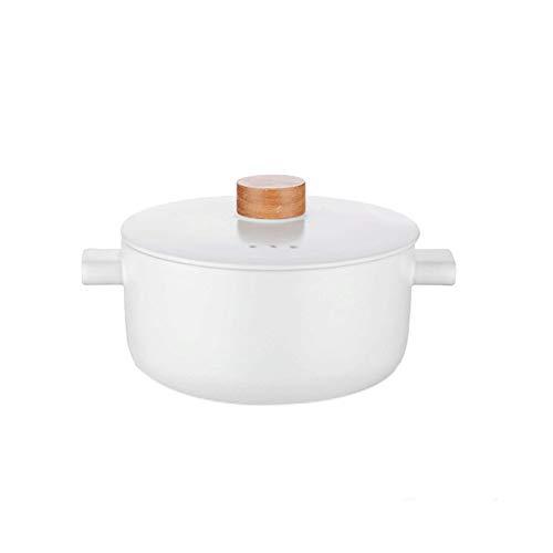 Healthy Cookware Stock Pot Ollas de barro de 2.8L Ollas de cerámica, resistentes a altas temperaturas, para cocinar cazuela, saludable y duradera, adecuada para estufa de gas, cocina de inducción.