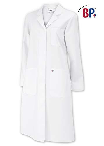 BP 1699-130-21 Mantel für Frauen Langarm, Kragen mit Aufschlag 205,00 g/m² Reine Baumwolle, weiß,...