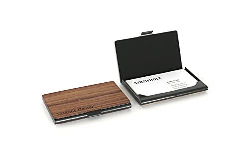 Visitenkartenetui aus Holz mit Gravur personalisiert | Namen | Initialien | Logo | Visitenkartenhalter | Kartenetui | Visitenkartentasche | Visitenkarten | Etuis