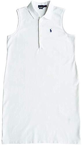 Ralph Lauren Polo Vestido Polo Talla M,Delgado, Vestido con Azul Jinete Blanco