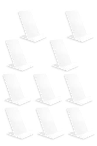 アクリルスタンド 展示台 10個セット アクリル ディスプレイ アクリル台 スタンド 台座 展示用 カードスタンド ディスプレイスタンド 展示ケース 【SIMPS】