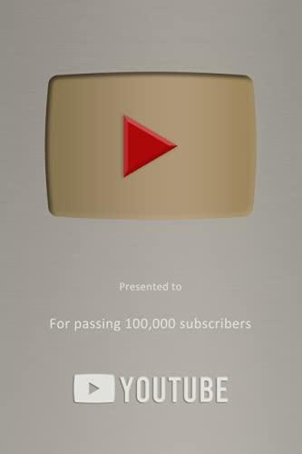 Youtube - Cuaderno de rayas de 100 K, gran regalo para Youtubers aspirantes y...