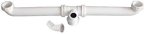 Viega 22608 0 Ablaufverbindung für Doppelspülen, Kunststoff-weiß, 1 1/2 Zoll x 180-600, 180