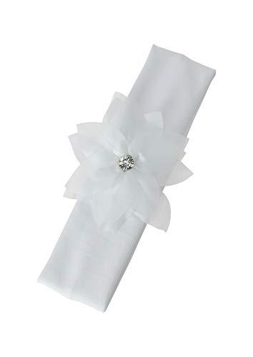 Bandeau bébé blanc grosse fleur bandeau baptême