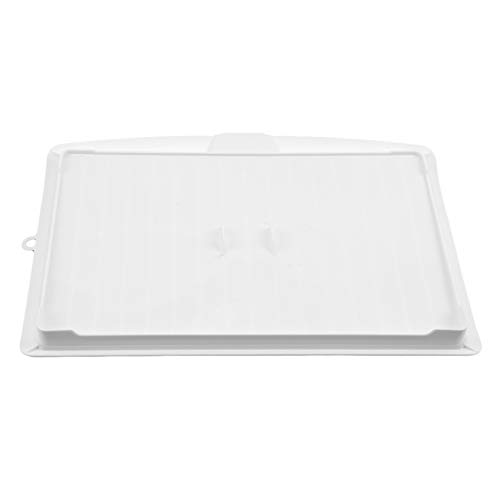 unknow YiYour - Bandeja escurridora de platos con tabla de goteo para cocina, mesa de secado y utensilios de cocina, color blanco