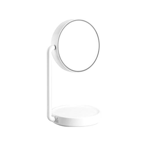 Zyj stores-Espejo para maquillarse HD Desktop Makeup Mirror LED Lámpara de Mesa Touch Open Rechargeable Makeup Mirror Blanco