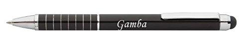 Personalisierte Stift und Touchscreen-Stift mit Aufschrift Gamba (Vorname/Zuname/Spitzname)