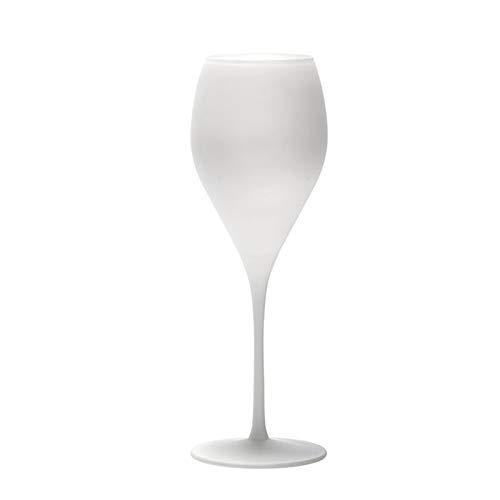 Stölzle Lausitz Champagnerkelch in groß weiß matt 343ml, 6er Set Champagnergläser, spülmaschinenfest, bleifreies Kristallglas, hochwertige Qualität, Elegante Champagnerkelche, tolle Geschenkidee,