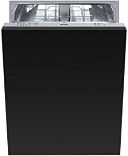 """Smeg 24"""" Fully integrated Dishwasher With 13 Place Settings 5 Wash Cycles, Half-Flexible Load, Panel Ready, STU8249"""
