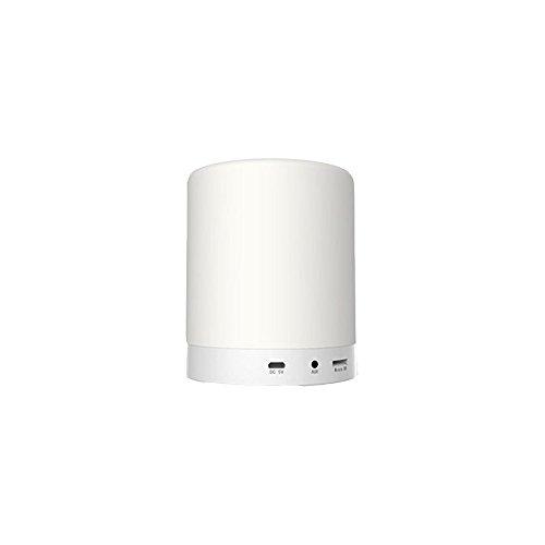 Veilleuse ZQ Creative LED Nuit Lumière De Charge sans Fil Bluetooth Audio Chambre Lampe de Chevet Tactile Soins Sommeil Musique Bureau Lampe
