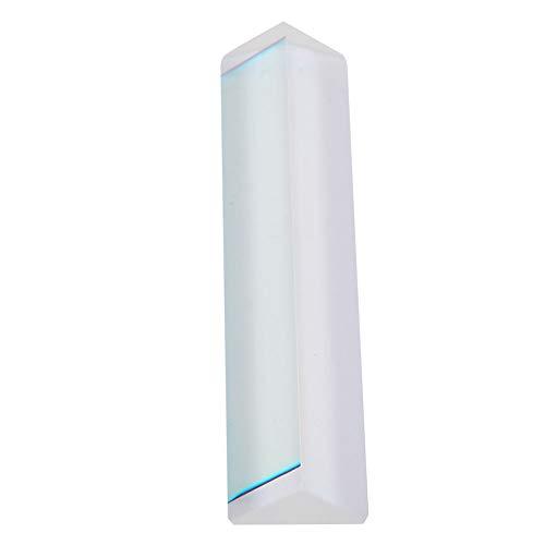 Akozon Prisma Dreieck 91 * 21 * 15 mm Regenbogen Optisches Glas Dreifaches Dreiecksprisma für Physik Lehrmittel und Fotofotografie Prisma