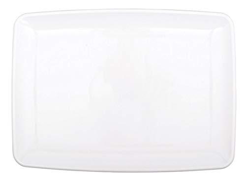 Amscan 357813-08 Präsentierteller 20,3 x 27,9 cm, plastik, Weiß