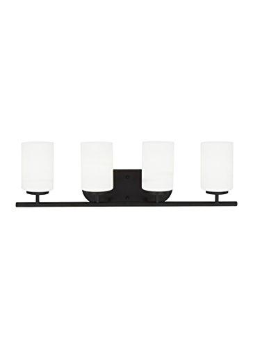 Oslo 4 Light Bath Vanity Light Bulb: 100W Medium, Base Finish: Blacksmith