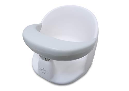 BabyDam Baby Badewannensitz, drehbar, Weiß / Grau