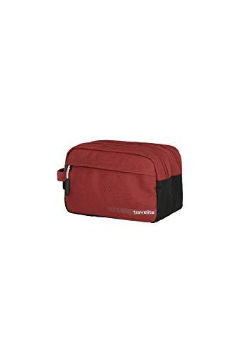 Travelite Handgepäck Kosmetiktasche, Gepäck Serie KICK OFF: Praktische Kulturtasche für Urlaub und Sport, 006920-10, 26 cm, 5 Liter, rot