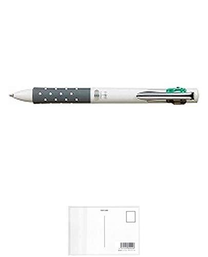 トンボ鉛筆 4色ボールペン リポータースマート ホワイト BC-FRL21 【× 4 本 】 + 画材屋ドットコム ポストカードA