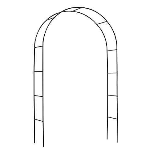 Sekey Arco para Rosas de jardín, 240 x 140 x 40 cm. Es Adecuado para Todo Tipo de Plantas trepadoras, Arco de Jardin para Plantas, Arcos de Boda, Arcos de jardín, Negro