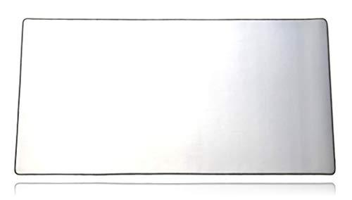 Mega Size Gaming Mouse Pad - Anti Slip Rubber Base - Stitched Edges - Large Desk Mat - 48' x 24' x 0.16' (Mega, All White/No Logo)