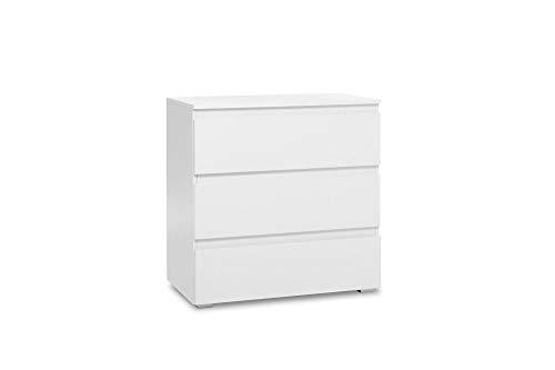 Newfurn Sideboard Commode Modern dressoir Highboard Multifunctionele kast II 80x80x 45 cm (BxHxD) II [Nikita Eleven] in wit / wit woonkamer slaapkamer eetkamer
