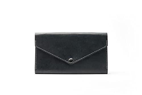 Hecho a mano de cuero genuino tarjeta caso cartera auténtico mujeres hombres accesorio elegante diseño regalo - ES-9031-G