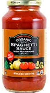 Trader Giotto's Organic Spaghetti Sauce with Mushrooms 25 oz (Case of 2)