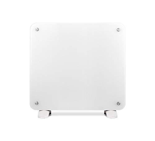 Haverland OSYRIS-10 | Convector Cristal | 1000W | Portátil / Pared | Calefactor Eléctrico Programable | Termostato Digital LCD | Timer | Diseño Elegante | Soportes Incluidos | Blanco