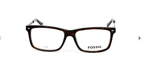 Fossil Brillengestelle FOS 6033 Rechteckig Brillengestelle 55, Mehrfarbig