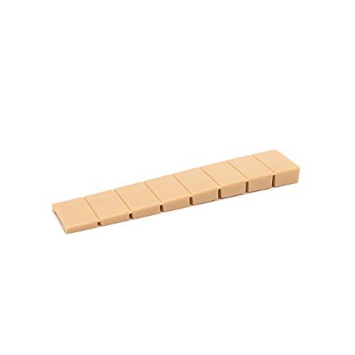 25 x Möbelkeile/Unterlegkeile/Ausgleichskeile aus Kunststoff mit integrierten Soll-Bruchstellen | Sossai® MKB-100 | Farbe: Beige