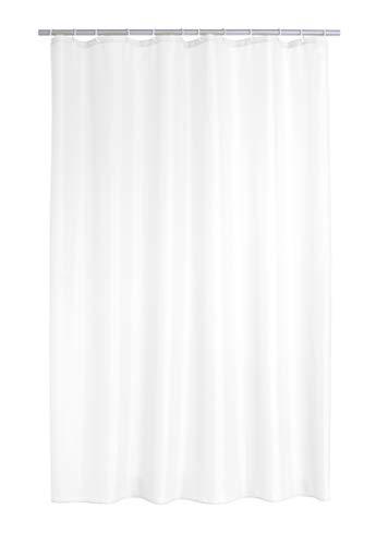 RIDDER 140301 Duschvorhang Textil ca. 180x200 cm Uni weiß