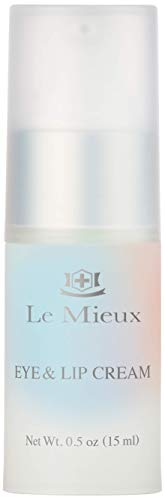 Le Mieux Eye & Lip Cream - Peptide-Infused Treatment for Visible Wrinkles & Fine Lines with Kukui Nut Oil & Ceramide, No Parabens or Sulfates (0.5 oz / 15 ml)
