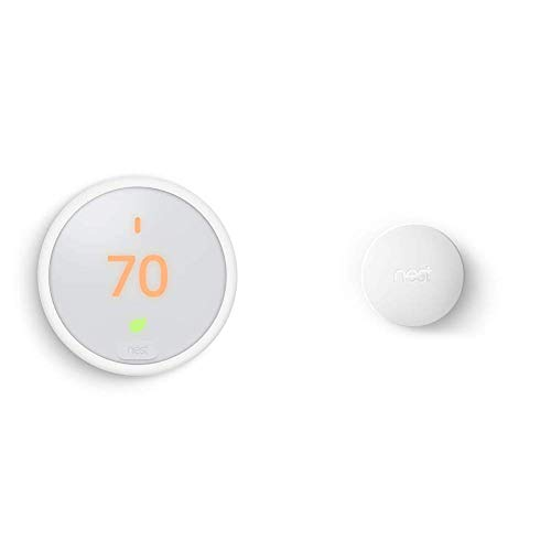 Google Nest Thermostat E, Smart Thermostat, White, and Google Nest...