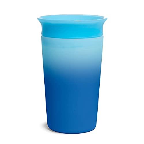 Munchkin Tasse Antifuite aux Couleurs Changeantes Miracle 360°, 266 ml/9 Oz, Bleue