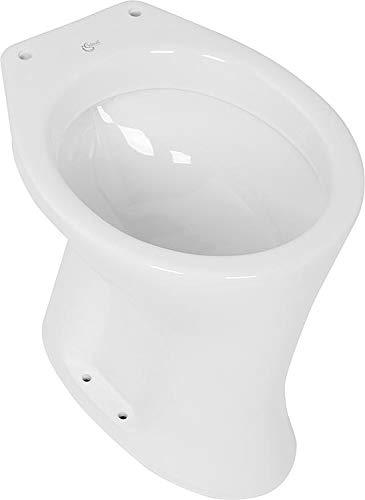 Ideal Standard - WC Toilette Stand WC Flachspüler - 355 x 390 x 475 - Farbe weiss - Abgang waagerecht - K287001