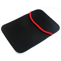 SVVM Laptop Sleeve 14 inch Bag, Case, Pouch Reversible Black & Red Model: LS-14-BR