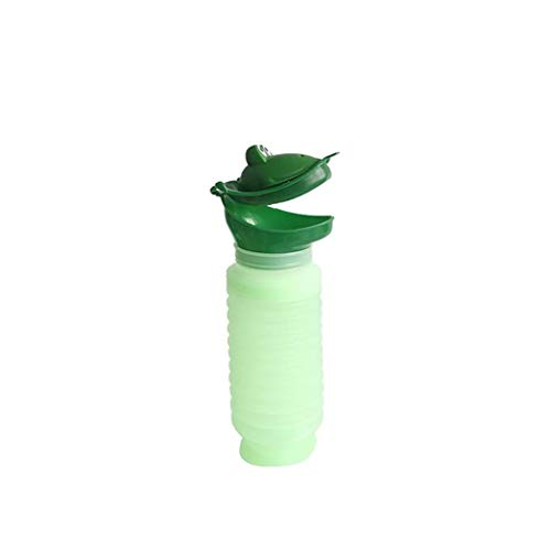 Portable Kids Potty Frog Shaped Urinal Emergency Toilet for Camping Car Travel and Kid Potty Pee Training Green 1pc