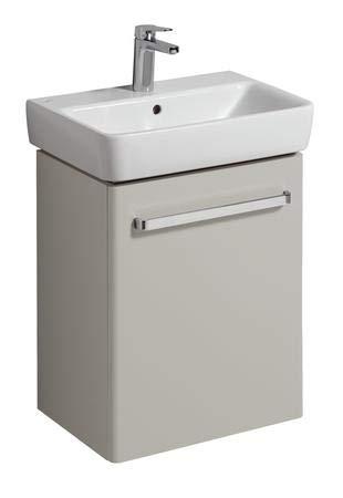 Keramag Waschtischunterschrank Renova Nr. 1 Comprimo Neu 500x604x337mm Hellgrau matt/Hellgrau Hochglanz