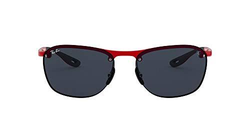 Ray-Ban Herren 0RB4302M F62387 62 Sonnenbrille, Rot (Red/Dark Grey)