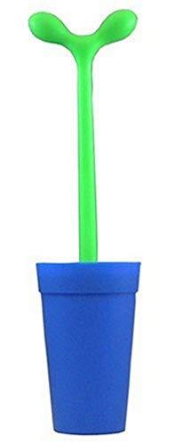 Alessi Merdolino ASG04 AZ Scopino di Design in Resina Termoplastica per Pulizia WC, Blu
