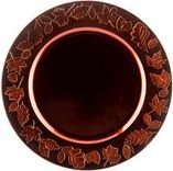 Fall Thanksgiving Decorative Charger Plates Fall Leaves Brown (Set of 4)
