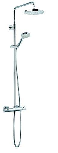 Damixa HILINA Duschsystem (57917.30) / integrierter Umstellung/Hochdruck/Silber (Schlauch)
