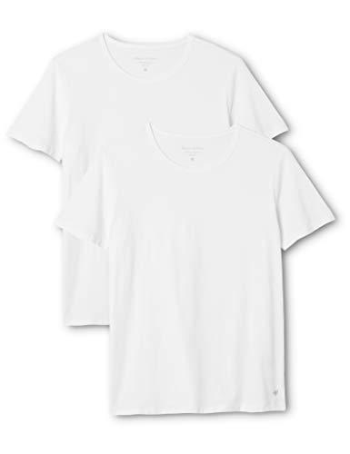 Marc O'Polo Herren Rundhals Shirts Doppelpack, Weiß (Weiß 100), Large