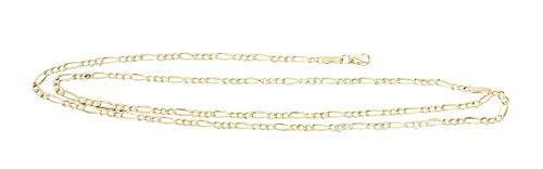 Hobra-Gold Figaro Goldkette 333 Goldkette Halskette Figarokette Gelbgold 8 Karat Karabiner (45)
